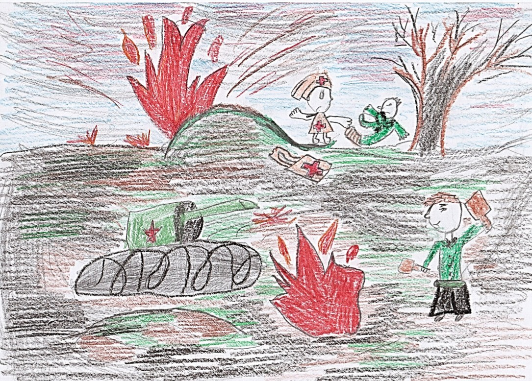 Рисунок война глазами детей